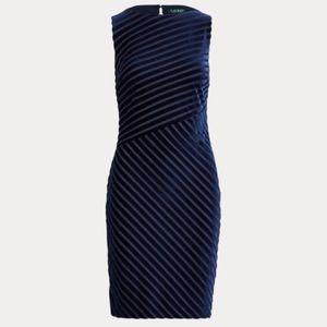 Ralph Lauren. Shadow Stripe Velvet Dress